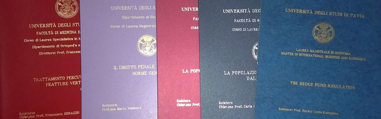 linea copia pavia tesi di laurea